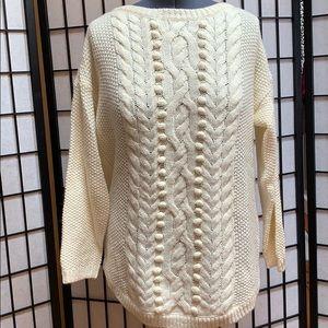 NWOT Talbots Sweater w/Detailing Warm 1X